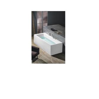 KVADRA Badewanne mit Rahmengestell 180x80x47cm, weiß