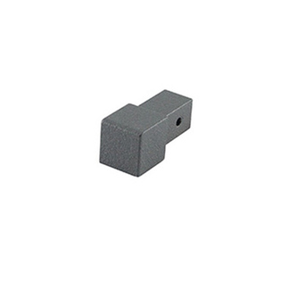 Quadro Aluminium Eckstück,  grau metallic, 11 mm hoch