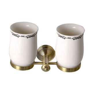 ASTOR Glashalter doppelt, bronze