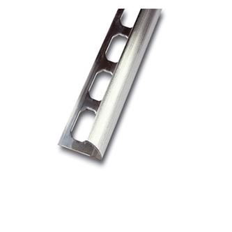 Viertelkreisprofil aus Edelstahl , geschliffen, 250cm lang, 12,5mm hoch