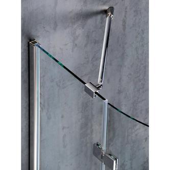VITRA LINE Duschabtrennung Viertelkreis 900x900mm,R550,rechts, Klarglas