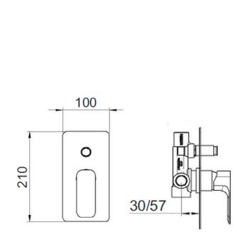 SPY Unterputz-Duscharmatur , 2 Wege, Chrom