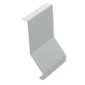 Verbinder, Aluminium, passend zum Balkonabdeckprofil Aluminium, grau, 88 mm hoch