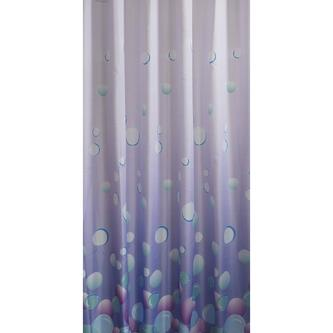 Duschvorhang 180x200cm, 100% Polyester, hellviolett