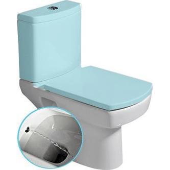 BASIC freistehendes WC mit Bidetfunktion, Abgang senkrecht/waagerecht