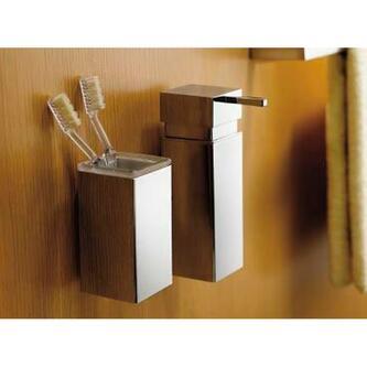 QUELLA Seifenspender 150ml, Befestigungssystem Lift & Clean, Chrom