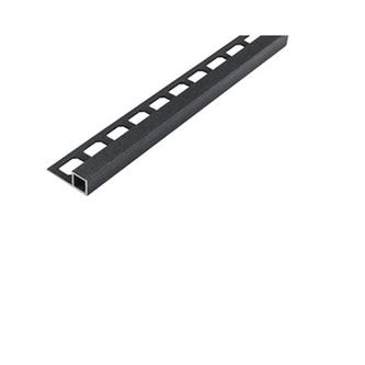 Quadro Aluminium Fliesenschiene, anthrazit metallic, 250cm lang, 11mm hoch