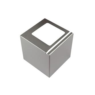 Eckstück aus Edelstahl, passend zum Balkonabdeckprofil Edelstahl, 75 mm hoch