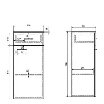 ZOJA/KERAMIA FRESH Unterschrank 35x78x29cm, links, weiß