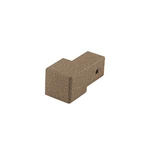 Quadro Aluminium Eckstück, passend zur Quadro Aluminium Schiene, strukturbeschichtet, quarz, 10 und 11 mm hoch