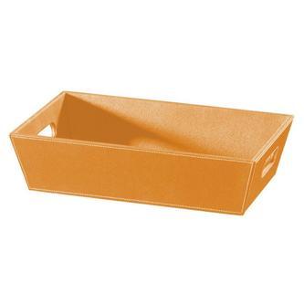 ECO PELLE Schale 43x11x26cm, orange