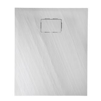 ATIKA 100x80x3,5, Steinoptik weiß