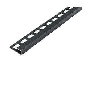 Quadro Aluminium Fliesenschiene, anthrazit metallic, 250cm lang, 10mm hoch