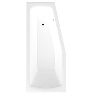 Raumspar Badewanne 170x70x39cm , MINOU, links, weiß