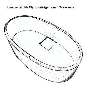 Styroporträger zu Badewanne Viva O 175