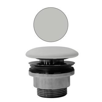 Ablaufgarnitur mit Keramik-Stopfen für Waschtische ohne Überlauf, cenere matt