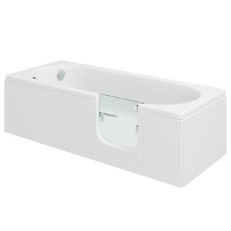 CASCADE Badewanne mit Tür/Seniorenbadewanne 169,5x70cm  Ausführung Rechts