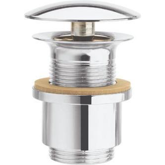 Nicht verschließbare Ablaufgarnitur für Waschtische o. Überlauf, H 3-25mm, Chrom