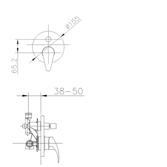 KASIOPEA Unterputz-Duscharmatur , 2 Wege, Chrom