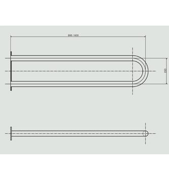 Stützgriff U-Form 600mm, weiß