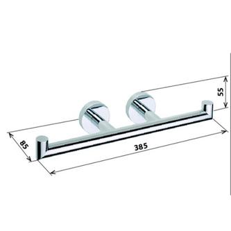 X-ROUND Toilettenpapierhalter, 2-Fach, mit 2 Griffe, Chrom