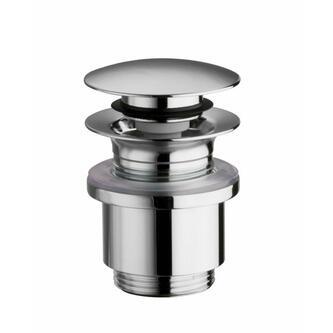 Verschließbare Ablaufgarnitur für Waschtische ohne Überlauf,H.0-25mm, ,Chrom