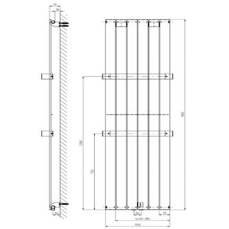COLONNA Heizkörper 450x1800mm, Mocca metallic