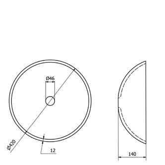 FIANNA Glas-Waschbecken Durchmesser 42 cm