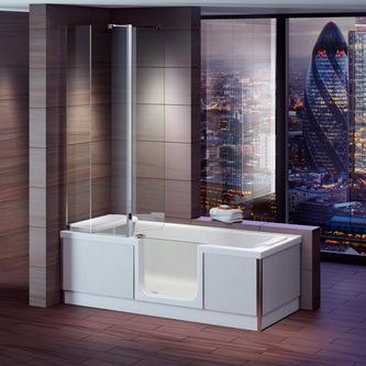 STYLE Badewanne mit Tür/Seniorenbadewanne 170x75cm  Ausführung Rechts