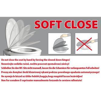 CENTO WC-Sitz mit Soft Close, Thermoplast, weiß