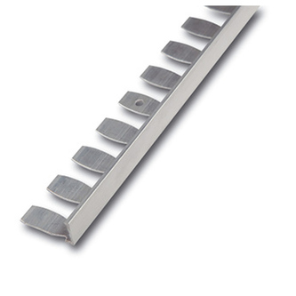 Radialabschlussprofil, Kurvenprofil, Alu, Oberfläche natur,250 cm, Höhe 3mm