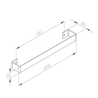 MAGNIFICA Handtuchhalter 608x74mm, Chrome
