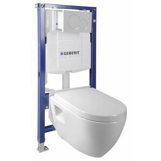 WC Set Hang - WC Nera mit Spülkasten und Geberit-Knopf für Gipskartonplatten