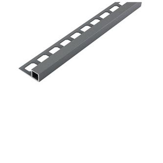 Quadro Alu- Fliesenschiene, grau metallic, 250 cm lang,11 mm hoch