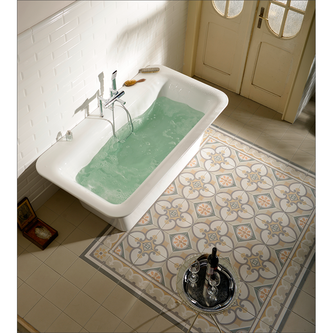 SAIMA freistehende Badewanne 176x95x60cm, weiß
