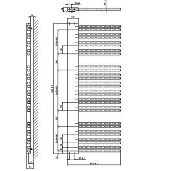 ALTALENA Heizkörper 600x1610mm, weiß