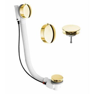 MODEL 06 Ablaufgarnitur mit Bowden, Länge 475mm, Stopfen 72mm, Gold