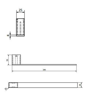 BELLA Handtuchhalter für Unterschränke, 400mm, Chrom