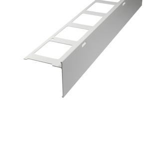 Balkonabdeckprofil Aluminium, Oberfläche Pulverbeschichtung, Auflageschenkel 80mm, Länge 300cm,  11/15/24 mm hoch,grau,