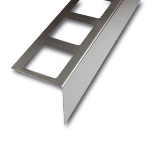 Balkonabdeckprofil Edelstahl , Auflageschenkel 80mm, Länge 300cm,  55/75/95 mm hoch,grau