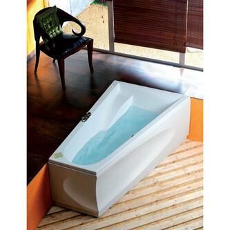 CHIQUITA R asymmetrische Badewanne 170x100x45cm, weiß