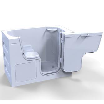 SERENITY Sitzwanne mit Tür/Seniorenwanne 130x66cm  Ausführung Rechts