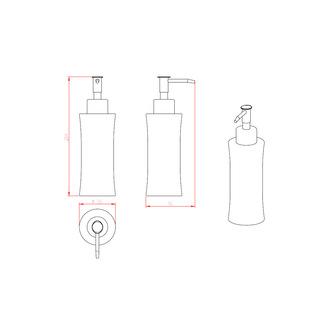 Seifenspender zum Stellen, polierter/gebürsteter Edelstahl