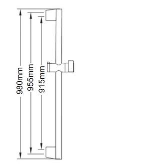 AMY Brausestange mit Brauseschieber, 980mm, Chrom