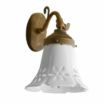 MARSALA Lampe E14 40W, 230V, Keramikschirm, bronze