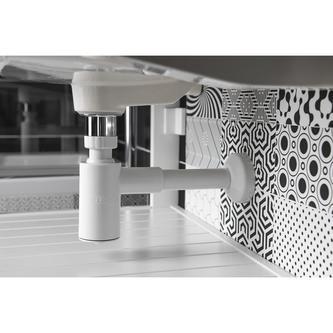 CRONO Waschtisch-Siphon 1'1/4, Abfluss 32mm, weiss