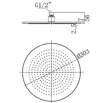 Kopfbrause, Durchmesser 300mm, Chrom