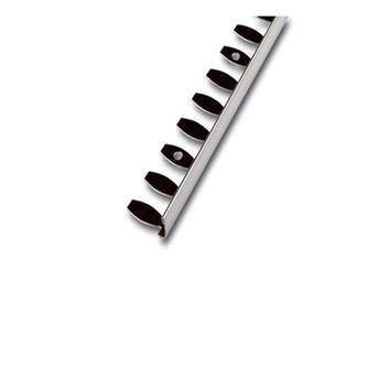 Radialabschlussprofil, Kurvenprofil, Edelstahl ,glänzend, 250 cm, Höhe 12,5mm