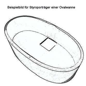 Styroporträger zu Badewanne Eola