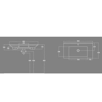 ZUNO 85 Waschtisch 85x45cm